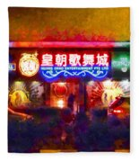 The Colours Of Singapore Nights Fleece Blanket