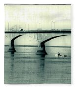 The Confederation Bridge Pei Fleece Blanket