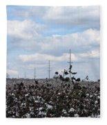 The Cotton Crops Of Limestone County Alabama Fleece Blanket