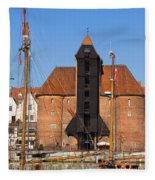 The Crane In Gdansk Fleece Blanket