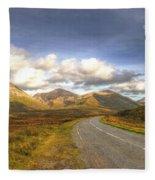 The Cuillin Mountains Of Skye Fleece Blanket