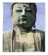 The Daibutsu Or Great Buddha, Close Up Fleece Blanket
