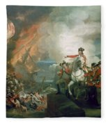 The Defear Of The Floating Batteries At Gibraltar Fleece Blanket