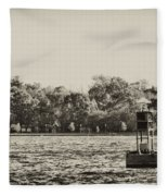 The Delaware River At Bristol Fleece Blanket