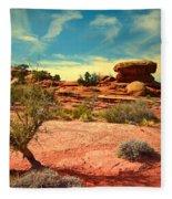 The Desert And The Sky Fleece Blanket
