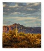 The Desert Golden Hour  Fleece Blanket