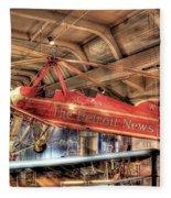 The Detroit News Airplane Dearborn Mi Fleece Blanket