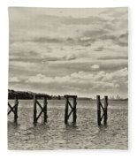 The Disappearing Pier Fleece Blanket
