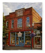 The Dixon Building In Grants Pass Fleece Blanket
