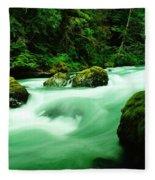 The Dosewallups River  Fleece Blanket