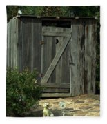 The Double Seat Outhouse Fleece Blanket