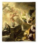 The Dream Of Saint Joseph Fleece Blanket