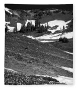The East Slopes Of Mount Rainier II Fleece Blanket