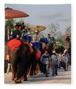 The Elephant Parade Fleece Blanket