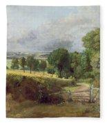 The Entrance To Fen Lane By Constable John Fleece Blanket