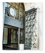 The Entranceway To Unilever House  Fleece Blanket