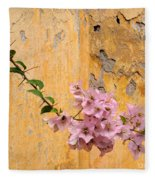 The Escaping Bougainvillea Fleece Blanket