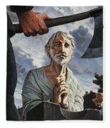 The Execution Of Walter Raleigh Fleece Blanket