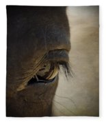 The Eyes Are The Window To The Soul Fleece Blanket