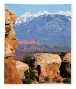 The Face Of Arches Fleece Blanket