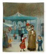 The Fairground  Fleece Blanket