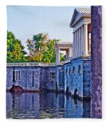 The Fairmount Waterworks In Philadelphia Fleece Blanket