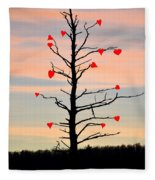 The Fall Of Love Fleece Blanket