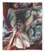 The Falling Figure Fleece Blanket