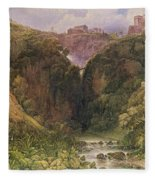 The Falls Of Tivoli Fleece Blanket