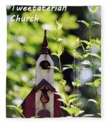 The First Tweetaterian Church Fleece Blanket