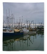 The Fishing Fleet Fleece Blanket