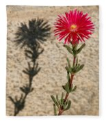 The Flower And Its Shadow Fleece Blanket