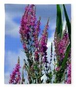 The Flowers Praise Him Fleece Blanket
