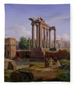 The Forum Rome  Fleece Blanket