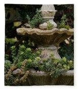 The Fountain Painterly Fleece Blanket