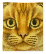 The French Orange Cat Fleece Blanket