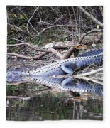 The Gator That Lives Under The Bridge Fleece Blanket