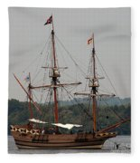 The God Speed Tall Ship Fleece Blanket
