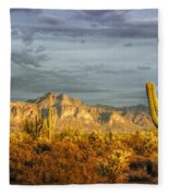 The Golden Glow II Fleece Blanket