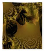 The Golden Mascarade Fleece Blanket