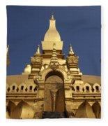 The Golden Palace Laos Fleece Blanket