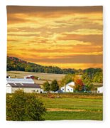 The Golden Ranch Fleece Blanket
