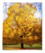 The Golden Tree Fleece Blanket