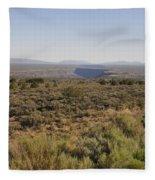 The Gorge On The Mesa Fleece Blanket