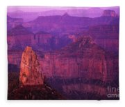 The Grand Canyon North Rim Fleece Blanket