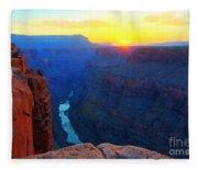 The Grand Canyon Solitude At Toroweap Fleece Blanket