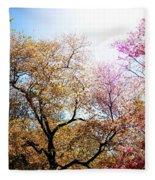 The Grandest Of Dreams - Cherry Blossoms - Brooklyn Botanic Garden Fleece Blanket