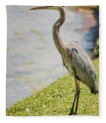 The Great Blue Heron Fleece Blanket