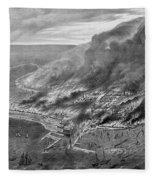 The Great Chicago Fire, 1871 Fleece Blanket