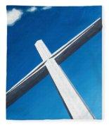 The Great Cross - Resurrection Fleece Blanket